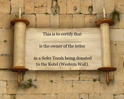 Add a Torah Letter Card to your mishloach manot package